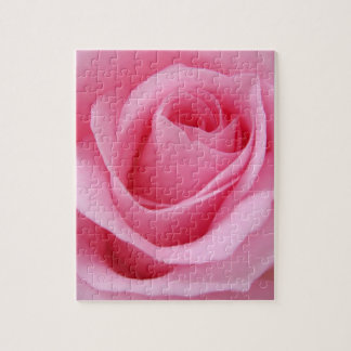 Pink rose flower close up picture jigsaw puzzle