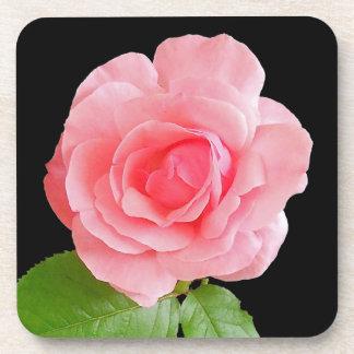 Pink Rose Flower Cork Coaster