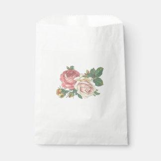 Pink Rose Flower  Wedding, Engagement Party Favour Bag