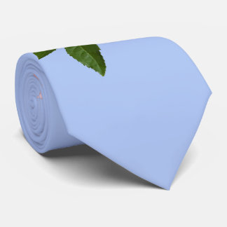 Pink Rose Flower with Dew Drops Customizable Tie