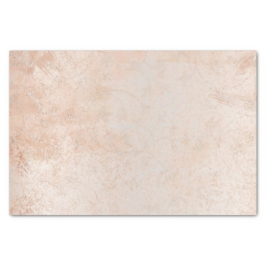 Pink Rose Gold Abstract Metallic Peach Silver Lux Tissue Paper