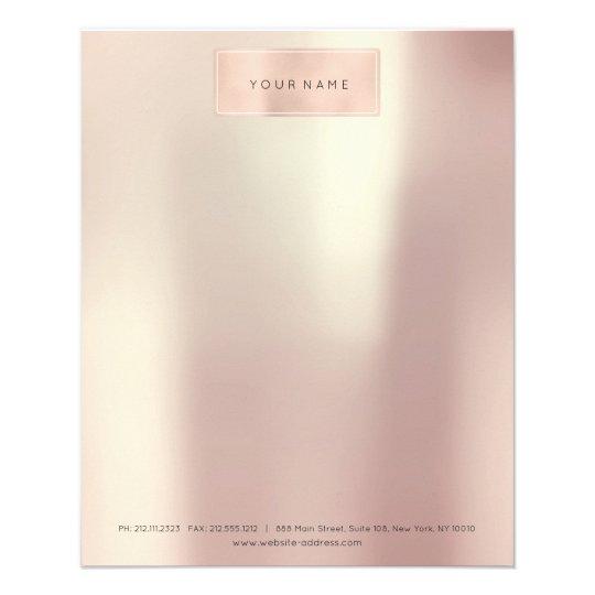 Pink Rose Gold Beauty SPA Beauty Letter Head Flyer