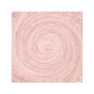 Pink Rose Gold Blush Abstract Circles Spirale Canvas Print