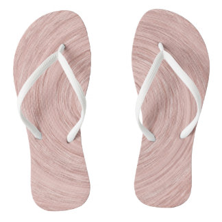 Pink Rose Gold Blush Abstract Lines Circles Wind Thongs