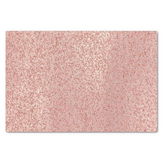 Pink Rose Gold Blush Metallic Glam Glitter Lux Tissue Paper