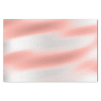 Pink Rose Gold Blush Metallic Peach Silver Abstact Tissue Paper