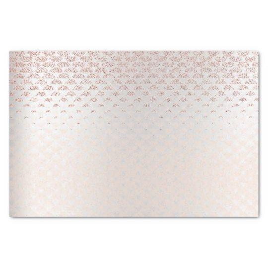 Pink Rose Gold Blush Metallic Peach Silver Diamond Tissue Paper
