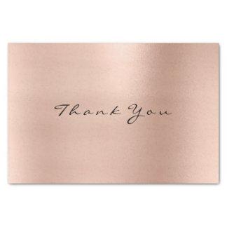 Pink Rose Gold Blush Metallic Thank Luxury Tissue Paper