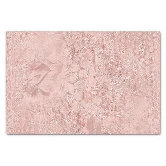 Pink Rose Gold Glass Glitter Delicate White Girly Tissue Paper