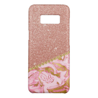 Pink Rose Gold Glitter and Sparkle Marble Case-Mate Samsung Galaxy S8 Case