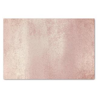 Pink Rose Gold Metallic Blush Powder Tissue Paper
