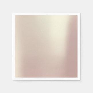Pink Rose Gold Metallic Minimalism Pure Wedding Disposable Serviette
