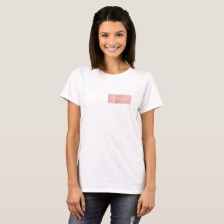 Pink Rose Gold Powder Metallic Minimal Gift T-Shirt