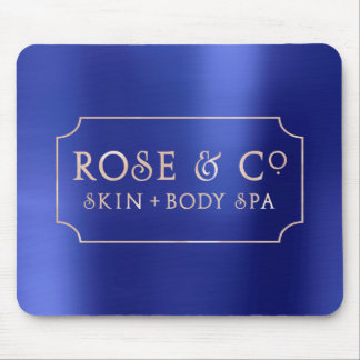 Pink Rose Gold Sapphire Blue Minimal Decor 1 Mouse Pad