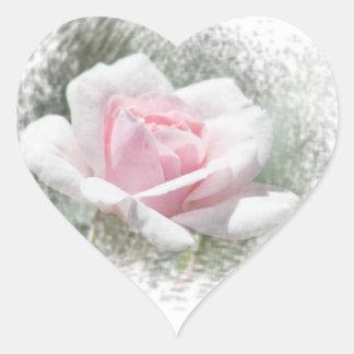 Pink Rose Heart Heart Sticker