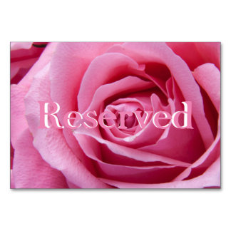 "Pink Rose Horizontal 3.5"" x 5"" Reserved Card"