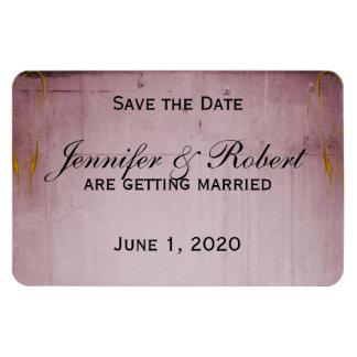Pink Rose Hummingbird Save the Date Rectangular Photo Magnet