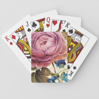 Pink Rose in Full Bloom Playing Cards