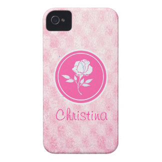 Pink Rose Iphone 4s case-mate case iPhone 4 Case