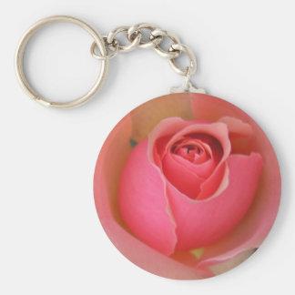 pink rose key ring