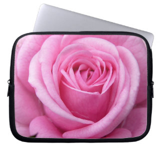 Pink Rose Laptop Sleeve Romantic Rose Tablet Case