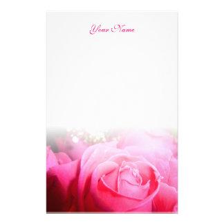 Pink Rose Letterhead