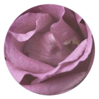 Pink Rose Melamine Plate