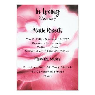 Pink Rose Memorial / Announcement
