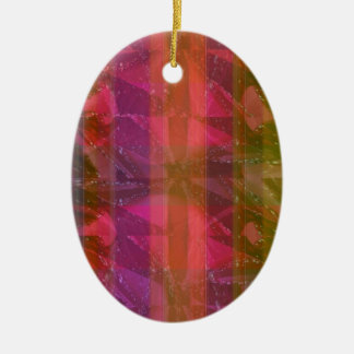 Pink Rose n Honey Bee Sting - Background Pattern Christmas Tree Ornament