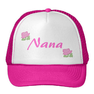 Pink Rose Nana Hat-Customizable Cap