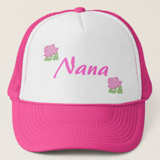 Pink Rose Nana Hat-Customizable Trucker Hat