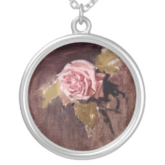 Pink Rose Necklace, Painting from the 19th Century