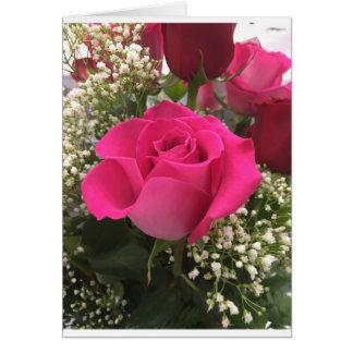 Pink Rose Notecard