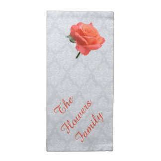 Pink Rose on Lacy Background Napkin