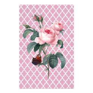 Pink Rose Orient Stationery