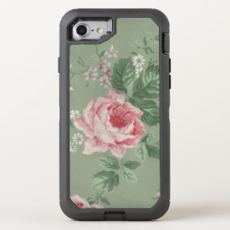 Pink Rose OtterBox Defender iPhone 8/7 Case