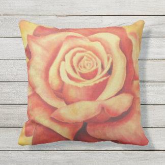 Pink Rose Outdoor Decorative Pillow