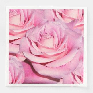 Pink rose paper napkins disposable napkin