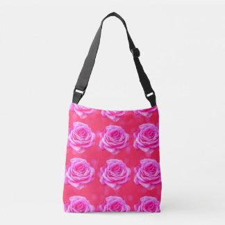 Pink Rose Passion, Full Print Cross Body Bag