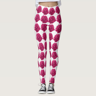 Pink rose pattern Leggings