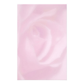 pink rose personalised stationery