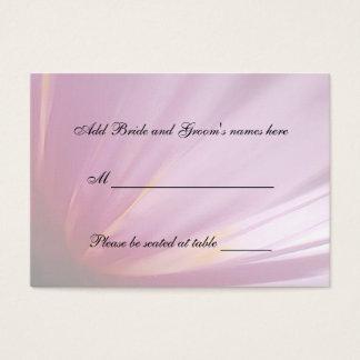 Pink Rose Petal Seating Place Card