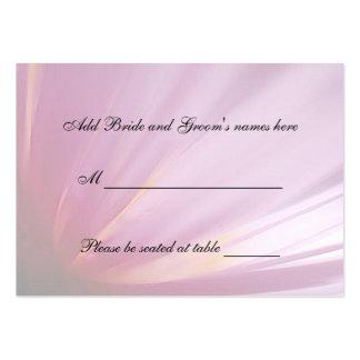 Pink Rose Petal Seating Place Card Business Card Template