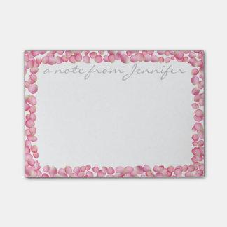 Pink rose petals custom Post-it note pad Post-it® Notes