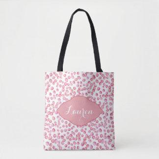 Pink rose petals custom tote