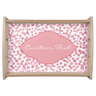 Pink rose petals custom tray serving platter