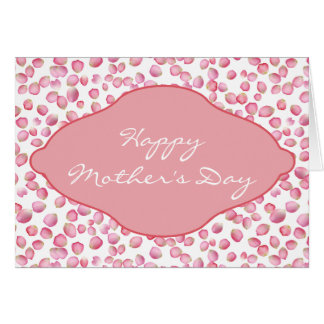 Pink rose petals design greeting card