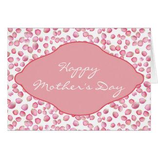 Pink rose petals design greeting card