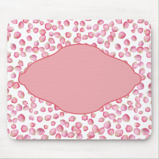 Pink rose petals design mouse pad