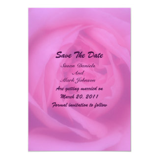 """Pink Rose Petals Floral Wedding Save The Date 5"""" X 7"""" Invitation Card"""